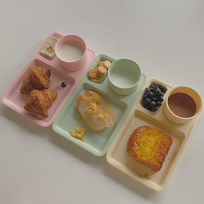 멜라민 브런치 세트(컵&식판)