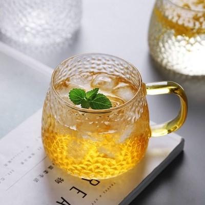 골드 손잡이 홈카페 예쁜 유리컵 커피잔 찻잔 유리잔 물컵