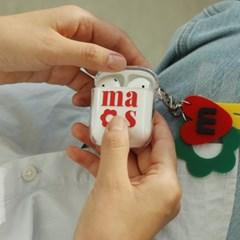Airpods clear case _ flower mas