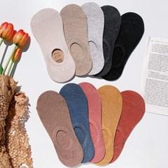 [10개세트] 여성 기본 골지 발목양말 페이크삭스 세트 (10color)
