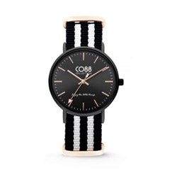 [CO88] 스트라이프 스트랩 손목시계 블랙 8CW-10036