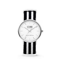[CO88] 스트라이프 스트랩 손목시계 화이트 8CW-10035