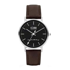 [CO88] 가죽 스트랩 손목시계 8CW-10006