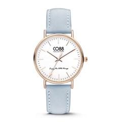 [CO88] 가죽 스트랩 손목시계 8CW-10003