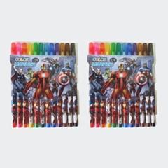 마블 캐릭터 항균코팅처리 12색 사인펜