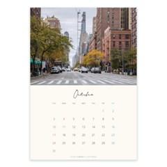 2021 10월 뉴욕 감성 포스터 달력