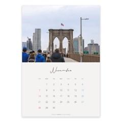2021 11월 뉴욕 감성 포스터 달력