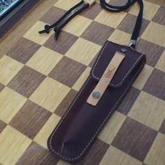 천연 가죽 목걸이 펜케이스 (GGOOMA)