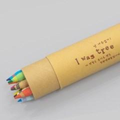 [더사랑 보킷] 친환경문구 재생종이 색연필 (10psc) 크라프트/레드
