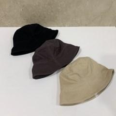 무지 기본 블랙 다크그레이 패션 버킷햇 벙거지 모자