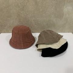 주름 기본 무지 심플 베이지 패션 버킷햇 벙거지 모자