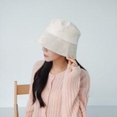 코듀로이 블랙 오렌지 패션 버킷햇 벙거지 모자