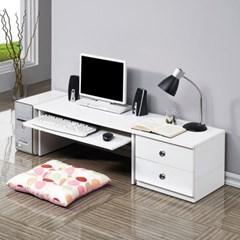 모던 컴퓨터 좌식책상 800+400협탁세트 1인용 테이블