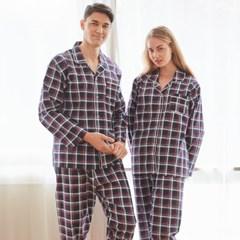 페리힐즈 커플잠옷세트 클래식체크 순면 잠옷(7025)