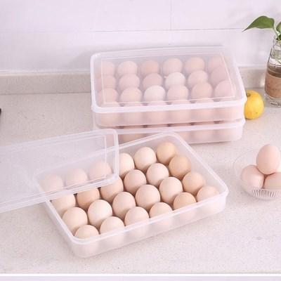 24구 투명 플라스틱 계란 보관함