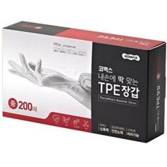 코멕스 TPE 터치가능 위생장갑(중) 200매