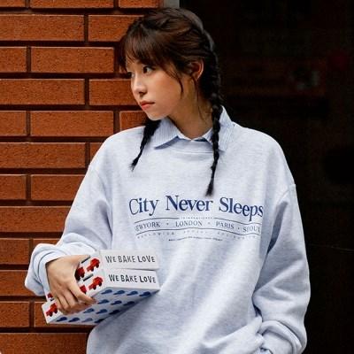 시티 네버 슬립 스웨트셔츠(기모안감) 3 Colors