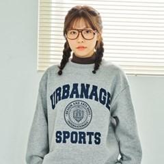 어반에이지 스포츠 로고 스웨트셔츠(기모안감) 4 Colors