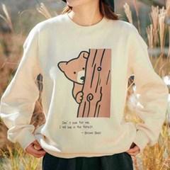 [Oragnic sweatshirt] Brown Bear (natural)