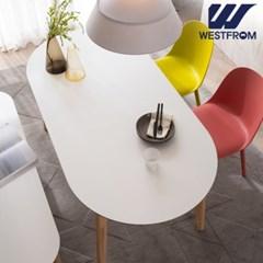 에스메랄다 1600 원목 타원형 테이블(식탁)
