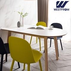 에스메랄다 1200 원목 반타원 테이블(식탁)