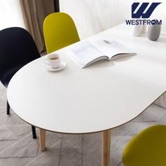 에스메랄다 1600 원목 반타원 테이블(식탁)