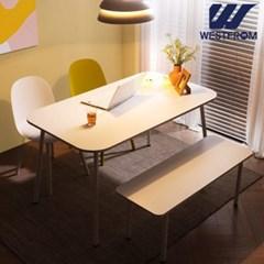 엘라 1200 화이트 라운드 테이블(식탁)
