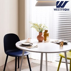 엘라 1000 화이트 원형 테이블(식탁)