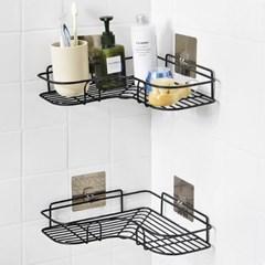 무타공 주방 욕실 코너 모서리 다용도 철제 선반 세트