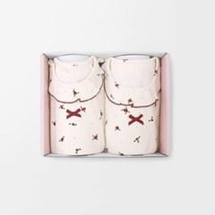 [메르베] 버블플라워 아기 돌선물세트(내의+수면조끼)_겨울용