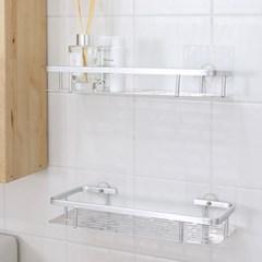 강력 흡착 AL 알루미늄 욕실 일자선반 1P