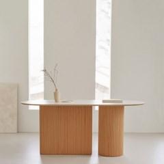 베네 호마이카 아일랜드 타원형 테이블 4인용 6인용 8인용 원목 식탁