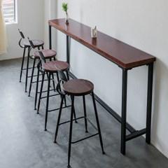 [아이니샵] 원목 폭좁은 긴 홈바 테이블