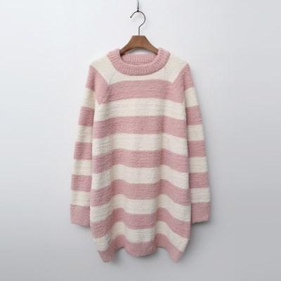 Very Soft Home Stripe Long Knit - 극세사