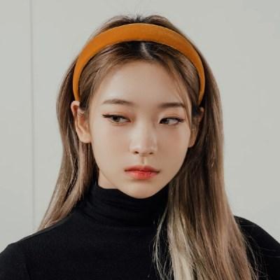 포슬리 벨벳 헤어밴드 머리띠 (21HB018)