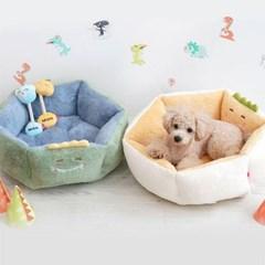 반려동물 양면 공룡베드 강아지 쿠션 매트 펫 방석