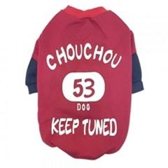 강아지 겨울의류 대형견 티셔츠 빨강5XL 후드원피스