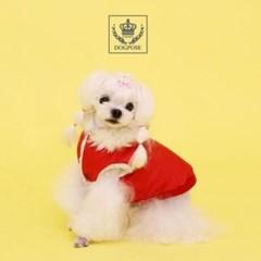 가을겨울용 따뜻한 안감 애견옷 강아지 점퍼 레드 M
