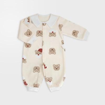 [메르베] 산타멍멍 신생아 실내우주복/북유럽아기옷_겨울용