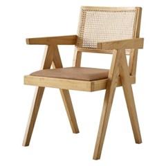 부기바 라탄 원목 팔걸이 의자[SH003525]