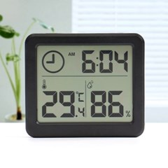 스마트 디지털시계 온습도계 실내온도계(블랙)