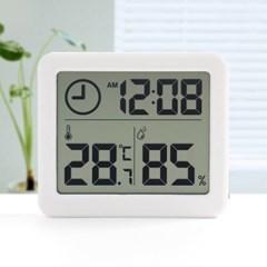 스마트 디지털시계 온습도계 실내온도계(화이트)