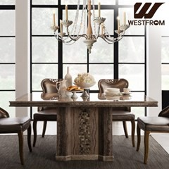 그라나다 모자이크 대리석 4인 식탁 (의자제외)