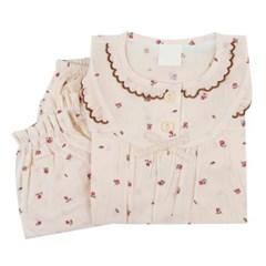 여아수면파자마 쁘띠로즈 순면실내복세트 긴팔상하복 꽃무늬잠옷
