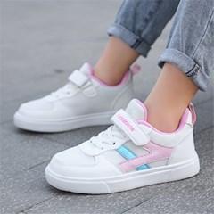 키즈 아동 깔끔한 클래식 단화 운동화 벨크로 신발 H
