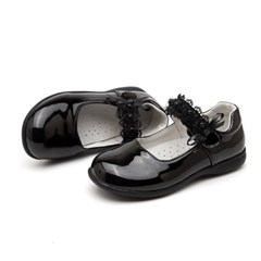 여아 아동 메리제인 구두 플랫슈즈 키즈 신발 블랙 J