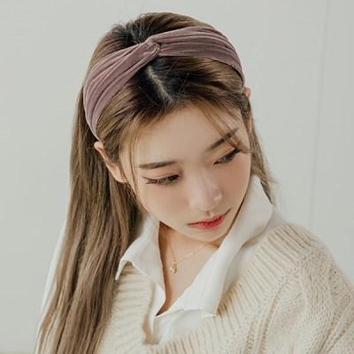 에리얼 벨벳 헤어밴드 머리띠 (21HB019)
