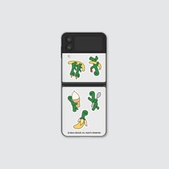(클리어 하드-Z플립3) 올리 초록이 디저트