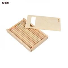 오라이프 우드 케이스 12색 우드색연필