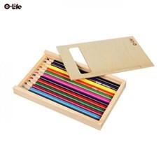 오라이프 우드 케이스 12색 칼라색연필
